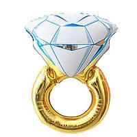 Фольгированный надувной шар Bonita Колечко с бриллиантом 80 см