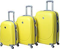 Набор чемоданов Bonro Smile 3 штуки желтый , фото 1