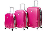 Набор чемоданов Bonro Smile 3 штуки малиновый , фото 1