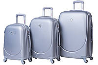 Набор чемоданов Bonro Smile 3 штуки серебряный , фото 1