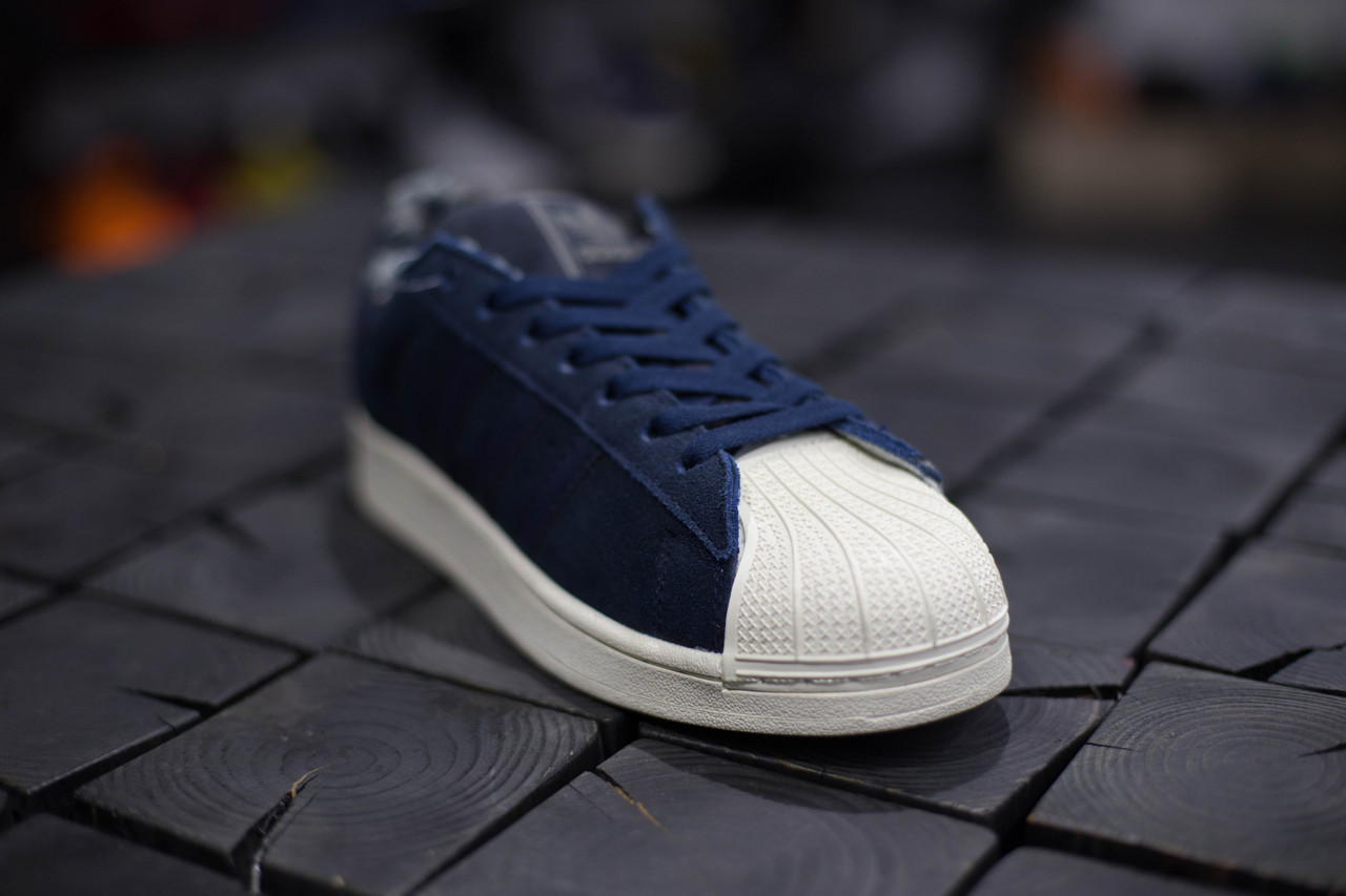Кеды мужские Adidas Superstar II.Синие,Замша