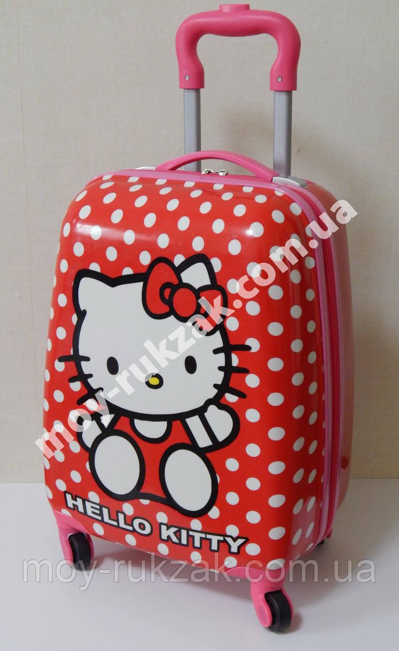 Детский чемодан дорожный на колесах «Hello Kitty - 6», 520394