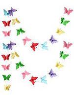 Бумажная гирлянда 3D Яркие бабочки 2,5 метра