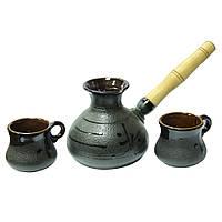 Набор керамической посуды Стандарт ( турка 500 мл и 2 чашки 100 мл )
