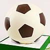 """Шоколадная фигура """"Футбольный мяч белый"""" КЛАССИЧЕСКОЕ сырье. Размер: Ø225мм, вес 1800г"""