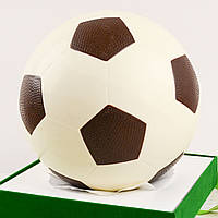 """Шоколадная фигура """"Футбольный мяч белый"""" ЭЛИТНОЕ сырье. Размер: Ø225мм, вес 1800г, фото 1"""