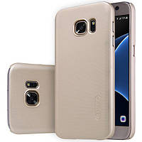 Чехол Nillkin Matte для Samsung G930F Galaxy S7 (+ пленка) Золотой