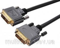 05-06-001. Шнур DVI (штекер - штекер), gold pin, с фильтрами, в блистере, 1м