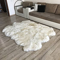 Ковер из 6-ти овечьих шкур белый, размер 210х165см