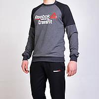Спортивний костюм Reebok Crossfit (Рібок)   реглан і штани на манжеті -  сірий   5b5f96e5ce832