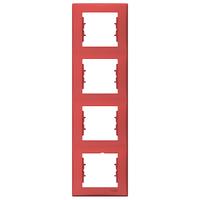 Четырёхместная рамка вертикальная Schneider Electric Sedna Красный (SDN5802041)