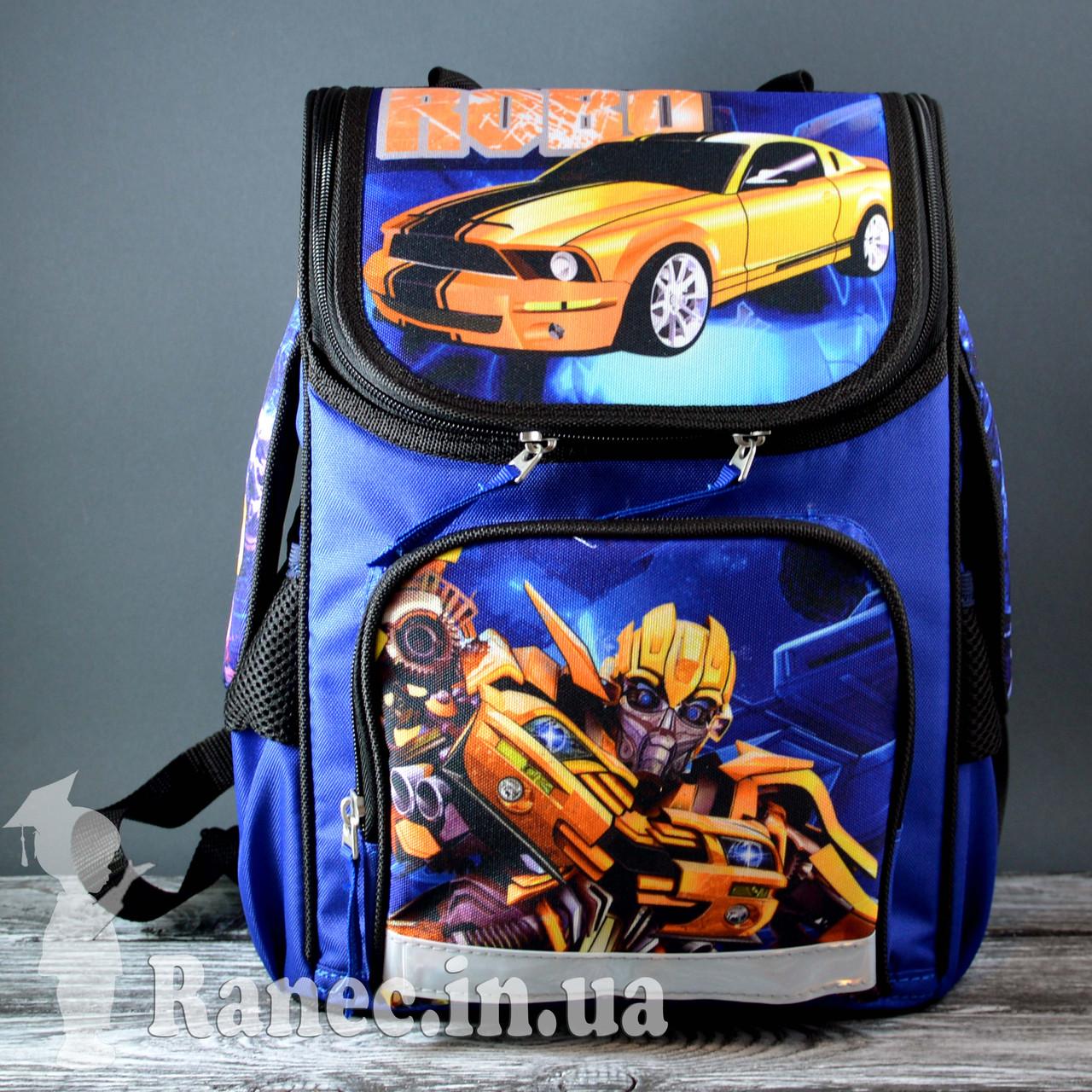 Портфель школьный для мальчика Vombato Робот 7821-1 R01 синий