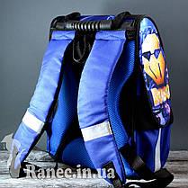 Портфель школьный для мальчика Vombato Робот 7821-1 R01 синий, фото 3
