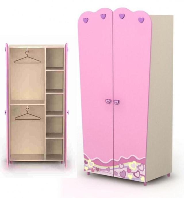 Двухдверный шкаф Pn-02-3 Pink (наполнение)