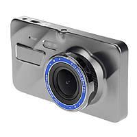 Видеорегистратор для автомобиля Dual Lens A10 Full HD 1080 P, 4-дюймовый экранный дисплей с двумя объективами