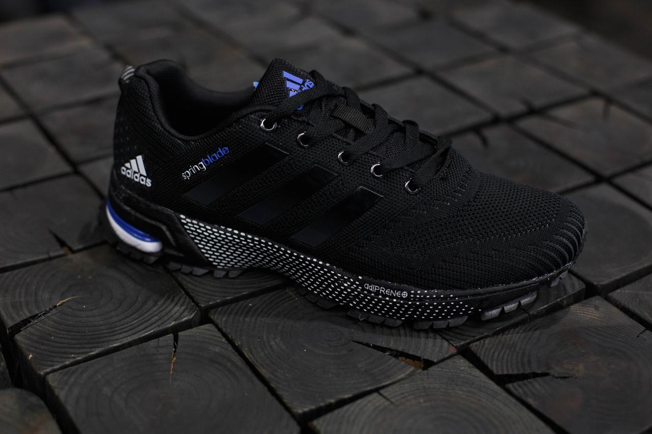 Кроссовки мужские Adidas Springblade.Черные,сетка