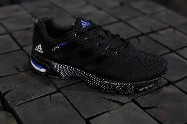 Кроссовки мужские Adidas Springblade.Черные,сетка, фото 2