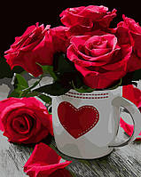 Раскраска по цифрам Розовое сердце ArtStory AS0020 40 х 50 см