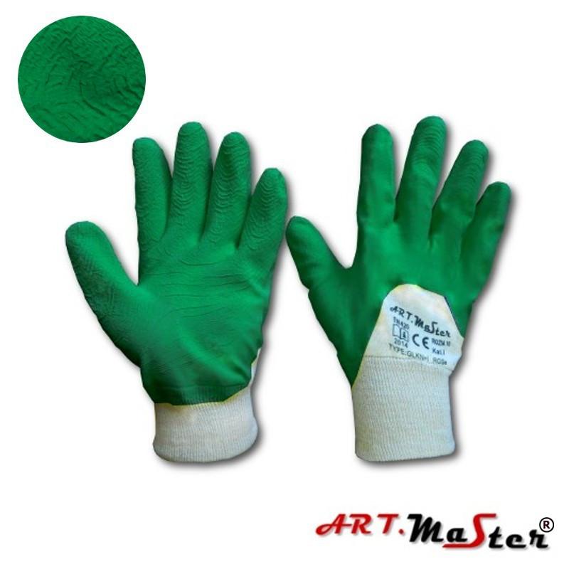 Перчатки RGSe Green с латексным покрытием, зеленого цвета, ARTMAS, р.10