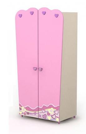Двухдверный шкаф Pn-02-3 Pink, фото 2
