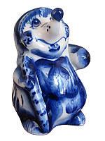 Еж с грибом синий (Гжель)