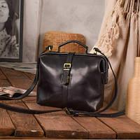 Женская кожаная сумка Indi | Оникс, фото 1