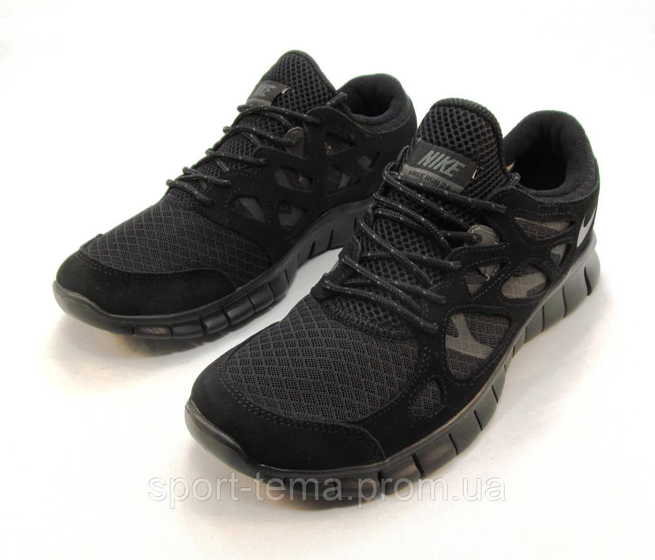 Кроссовки мужские Nike Free Run 2+ текстиль черные (найк фри ран)(р ...