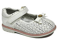 Детские туфли с перфорацией для девочки, ТОМ.М white, 21-26 (полномерные), фото 1