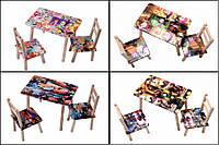 Стол + 2 стульчика мультяшный 600*460 ЧудиСам