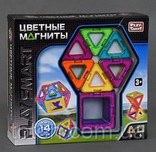 """Конструктор магнитный 2425   """"Play Smart"""", 14 деталей, 6 моделей, в коробке"""