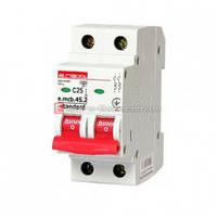 Двухполюсный автоматический выключатель 2р, 25А, C, 4.5 кА, e.mcb.stand.45.2.C25 автомат двухполюсный 25а