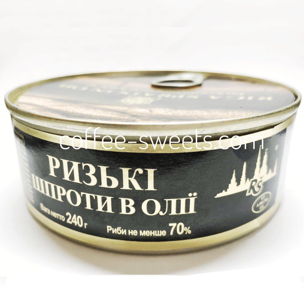 """Шпроты """"Ventspils"""" Рижские в масле 240г"""