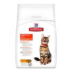 Hill's SP Fel Adult  OptCare Ch-2кг  корм для взрослых кошек на основе мяса курицы
