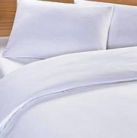 Постельное белье Евро с простыней на резинке 180/200/34, Белый подснежник, поплин 100%хлопок