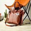 Вместительная женская сумка-shopper   Коньяк