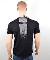 Футболки Puma оптом. PM1801 черный, фото 1