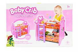 Игровая кроватка для кукол, для девочек 3389 (1574833)