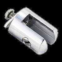 Держатель для стеклянной полки, в душевую кабину хромированный ( ЗС-6827 ) латунь