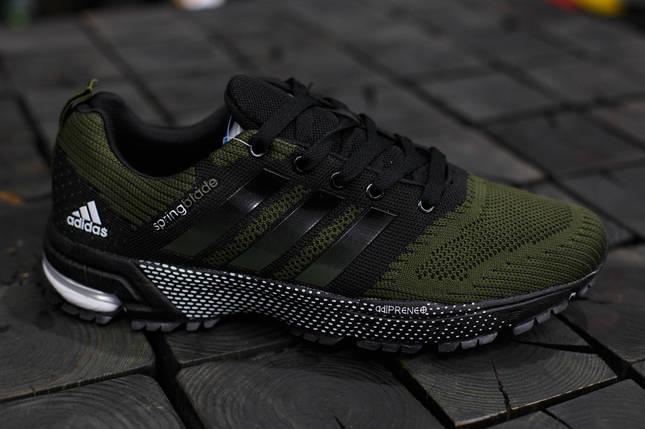 Мужские кроссовки Adidas Springblade.Темно зеленые,текстиль, фото 2