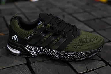 Мужские кроссовки Adidas Springblade.Темно зеленые,текстиль