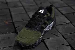 Мужские кроссовки Adidas Springblade.Темно зеленые,текстиль, фото 3