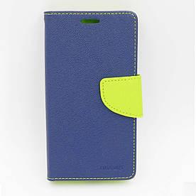 Чехол книжка для Samsung Galaxy J2 J200 боковой с отсеком для визиток, MERCURY GOOSPERY, Синий