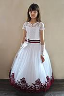 Красивое бальное платье в пол для девочки