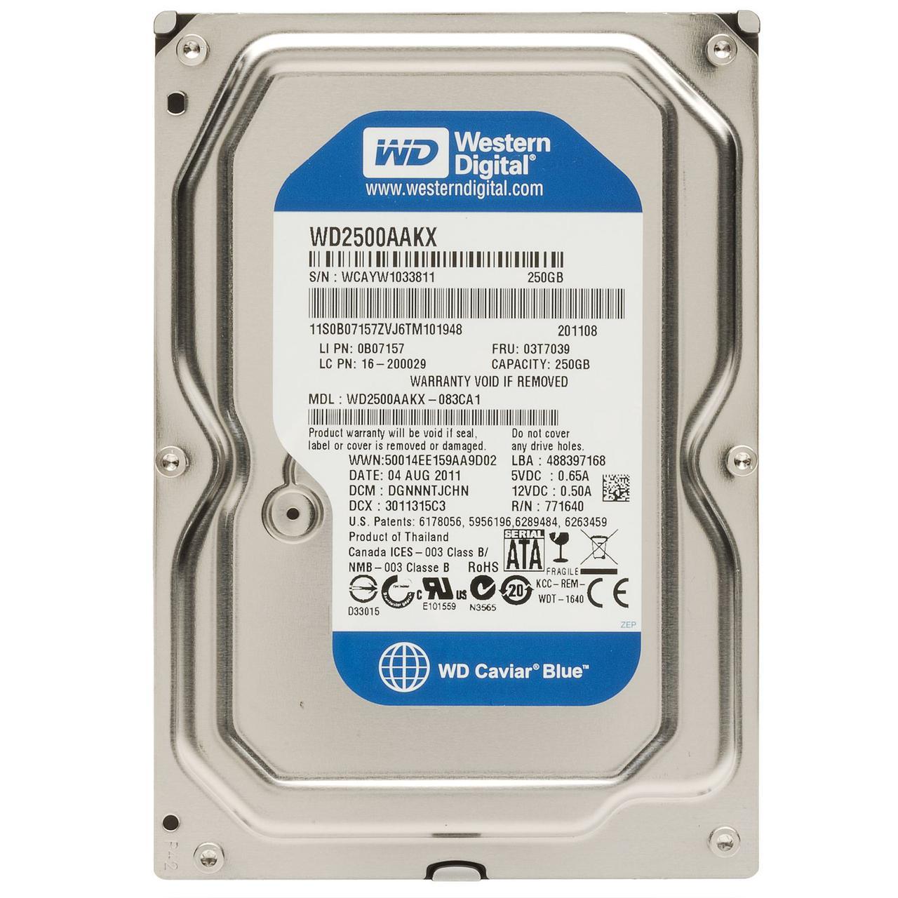 """Жесткий диск (HDD) 3.5"""" 250 GB Western Digital (WD2500AAKX)"""