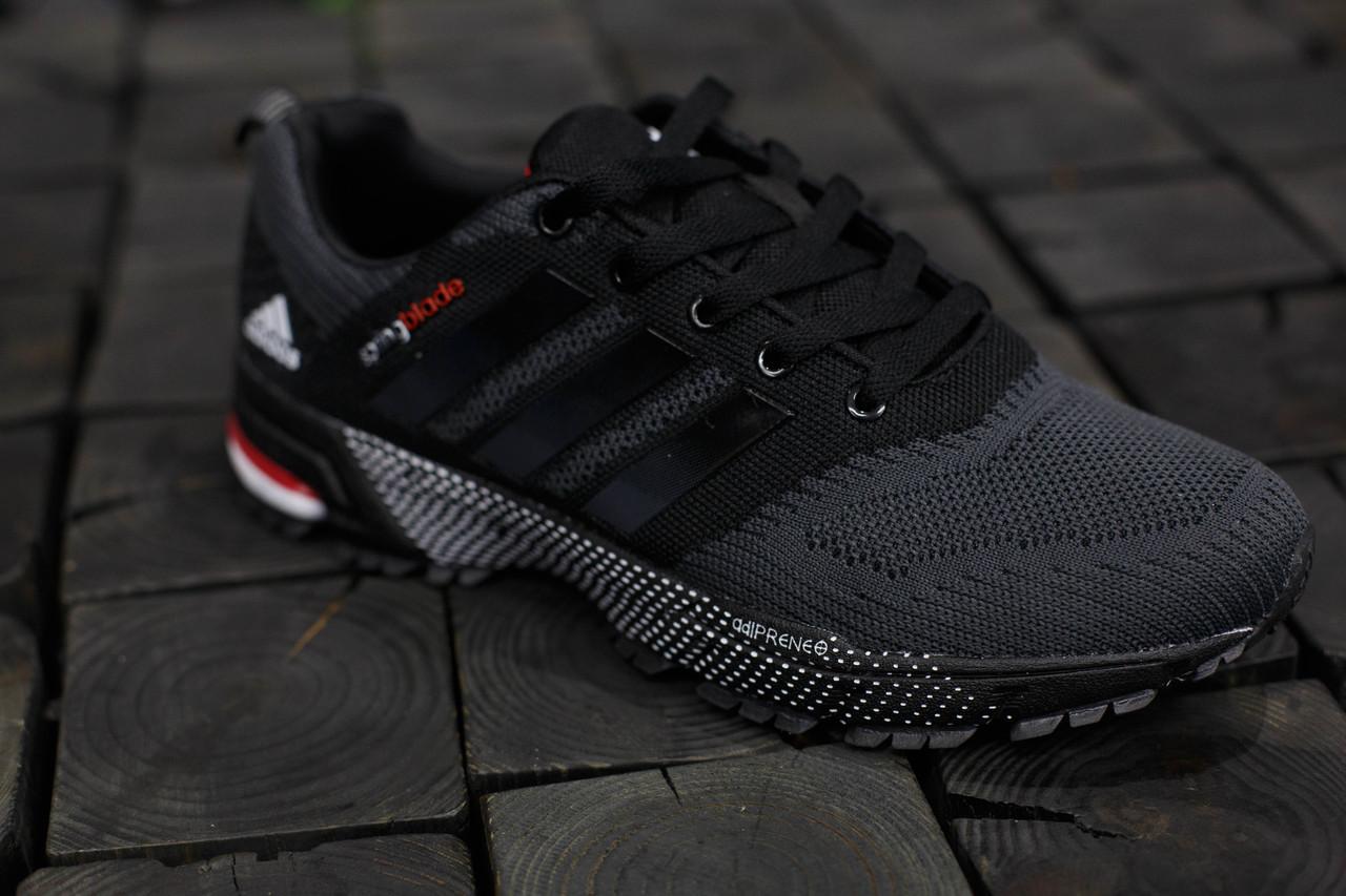 Кроссовки мужские Adidas Springblade.Темно серые,текстиль