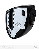Замок блокуючий VIRO MOTO SHARK BLACK/WHITE 2KEY, фото 1