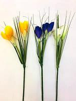 Цветок искусственный, Крокус ветка, H42 см, Искусственные цветы, Днепр