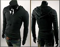 Мужская кофта-худи с капюшоном M, L, XL, XXL черный код 42