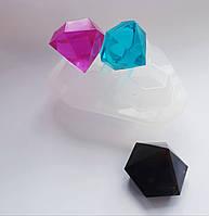 Молд для одновременной заливки 3 форм-кристаллов,промышленный прозрачный силикон