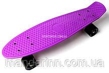 FISH Скейт Скейтборд ORIGINAL 22 PENNY Фиолетовый, Колеса черные